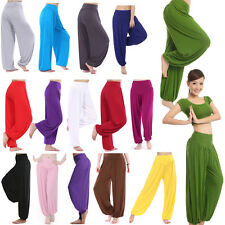 Womens Causal Harem Genie Aladdin Gypsy Baggy Jumpsuit Dance Yoga Pants Trousers