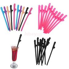 Novelty Willy Penis Drinking Straw Hen Night Party Accessory Pack of 10pcs