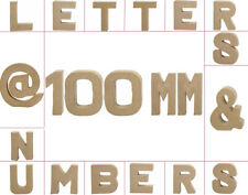 Small 100mm Paper Mache Letters, Numbers & Symbols for Crafts