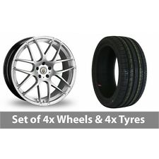 "4 x 20"" Cades Bern Accent Silver Alloy Wheel Rims and Tyres -  255/30/20"