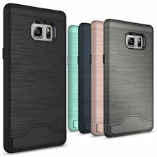 For Samsung Galaxy Note 7 Case Slim Kickstand Credit Card Hard Armor Skin Cover