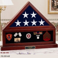 Combination Flag Display Case Shadow Box, Flag medal pedestal Hand Made