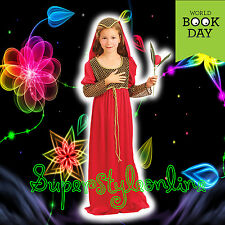 GIRLS Juliet FANCY DRESS COSTUME Romeo Tudor MEDIEVAL Kids 7-11 Book Day Week