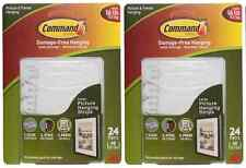 2 x 3M Command Large Picture Hanging Strips 24 Pairs/Sets 48 Strips holds 16 lb