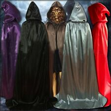 Adult Hooded Cloak Long Cape Halloween Party Cosplay Make-Up Dress Hood Costume