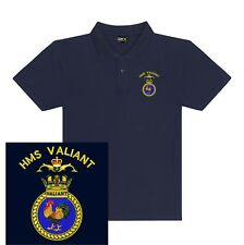 HMS Valiant Embroidered Polo Shirts