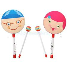 Cartoon Lovely Smiley Tambourines Hand Drum Percussion Musical Toy Kids Gift