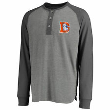 Denver Broncos Pro Line Anders Long Sleeve Henley Shirt - Gray/Charcoal - NFL