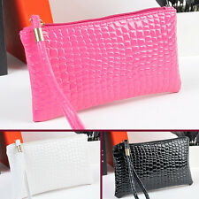 Fashion Women Lady Crocodile PU Leather Clutch Handbag Coin Purse Bag Wallets MI