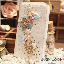 Hot Sale Luxury 3D Bling Crystal Rhinestone Flip Wallet PU Leather Case Cover 09