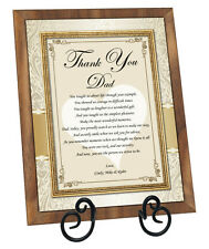 Gift for Father Personalized Dad Poem Plaque Birthday Daughter Bride Thank You