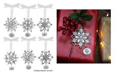 Ganz Christmas Holiday Sparkle Hanging Charm Snowflake Ornament EX27660