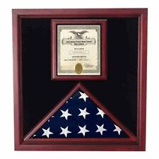 Award and flag display case display Case Hand Made By Veterans