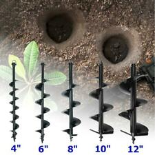 """52CC Gas Post Hole Digger Fence Earth Digger ONE MAN W/ 4"""" 6"""" 8"""" 10"""" Auger Bits"""