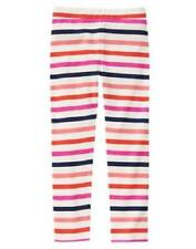 GYMBOREE WOODLAND WONDER PINK ORANGE BLUE STRIPED LEGGINGS PANTS 7 8 9 NWT