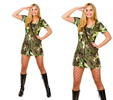 Sexy Army Girl Outfit Ladies Army Military Fancy Dress Costume Size 6/20