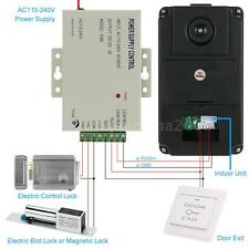 """7"""" Color LCD Touch Key Wired Video Door Phone Intercom System Doorbell EU T7I8"""