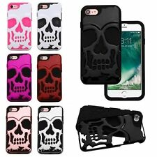 Hybrid Skull Skeleton Bone Hard Soft Silicone Case Cover For Apple iPhone 7 Hot