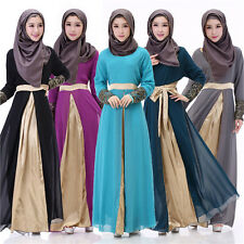 Women Long dress Muslim Abaya Kaftan Islamic Chiffon maxi dress Cocktail dresses