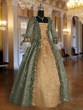 Medieval Gown Renaissance Dress Handmade from Baroque Damask