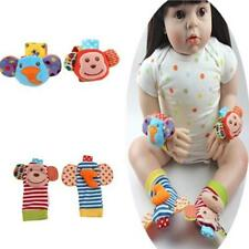 Baby Infant Funny Animal Wrist Foot Sock Rattles Developmental Toys Finders H