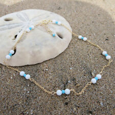 NEW Imitation Turquoise Beads Anklet Ankle Bracelet Silver Chain Foot Anklets CN