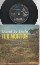 """TEX MORTON   Rare 60's Australian Only 7"""" OOP Country P/C EP """"Travel By Train"""""""