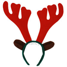 6 X REINDEER ANTLERS WITH EARS CHRISTMAS FANCY DRESS OFFICE XMAS PARTY STAG DO