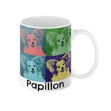 Papillon Puppy Dog Pop Art Pet Coffee Mug in 11 or 15 oz.