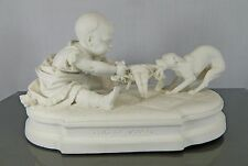 1850-1899 White Parian or Biscuit Porcelain Figurine Statue Germany