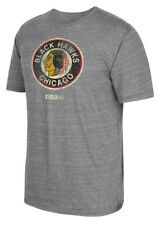 "Chicago Blackhawks CCM ""Retro Logo"" Distressed Premium Tri-Blend Gray T-Shirt"