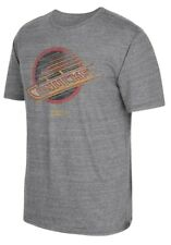 "Vancouver Canucks CCM ""Retro Logo Alternate"" Distressed Tri-Blend Gray T-Shirt"