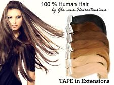 ♛35-50cm High Quality Super Tape in Extensions Remy Genuine Hair Tresses