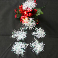 White Snowflake Ornaments Christmas Xmas Tree Decorations