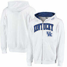 Kentucky Wildcats Stadium Athletic Arch & Logo Full Zip Hoodie - White - College