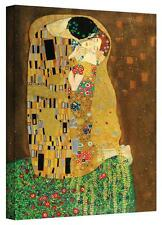 Gustav Klimt 'The Kiss' Gallery Wrapped Canvas by Gustav Klimt