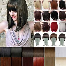 New Natural Clip In Bangs Fringe Real Straight Hair Extensions As Human Hair 7FN