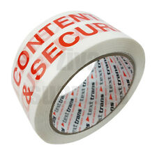 CONTENTS CHECKED Printed Warning Tape (48mm x 66m) For Packing Parcels Adhesive