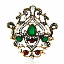 New Arrival Vintage Alloy Crystal Rhinestone Women Wedding Party Brooches Pins