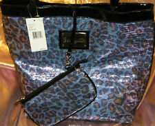 BETSEY JOHNSON -1 BETSEYVILLE SHOPPER* SEQUIN TIAL BLUE-or -SNAKE SEQUIN PURPLE-