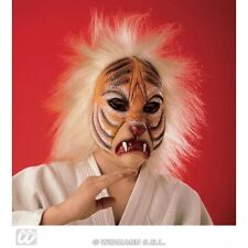 Tiger Mask with Plush Hair for Jungle Animal Fancy Dress Accessory