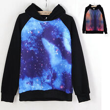 Unisex Galaxy Comic Stars Astronomy Print Sweater Top Shirt Jumper Hoodie,Lovers