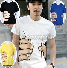Cool Mens Unisex Cotton Funny Hand Grab Printed Short Sleeve T-Shirt TOP #XS-XXL