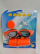 Adult Swim Goggles Combo Set Ages 14 Up Ear Plugs Nose Clip Keys BLUE or ORANGE