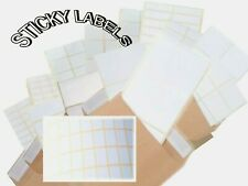 WHITE STICKERS SELF ADHESIVE STICKY POSTAGE ADDRESS INKJET LASER COPIER PRINTERS