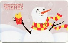 MCDONALDS RESTAURANT GIFT CARD no value 2013 WARM AND WONDERFUL WISHES ARCH CARD