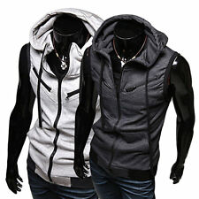 New Jacket Sleeveless Vest Home Winter Fashion Casual Coats Slim Hooded Hat F5