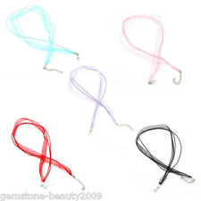 Wholesale HOT! Mixed Organza Ribbon Waxen Cord Necklaces Lobster Clasp 51.5cm