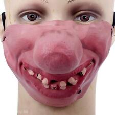 Cool Horrible Scary Mask Party Clown Latex Mask Cosplay Half Face Masks Costume
