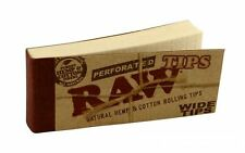 Raw Tips Perforated Wide Rolling Filter Tips (1-2-5-10-20 pieces & Full Box)